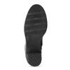 Kožené černé kozačky na stabilním podpatku bata, černá, 794-6618 - 18