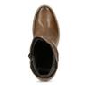 Hnědé kožené kozačky na stabilním podpatku bata, hnědá, 794-4618 - 17