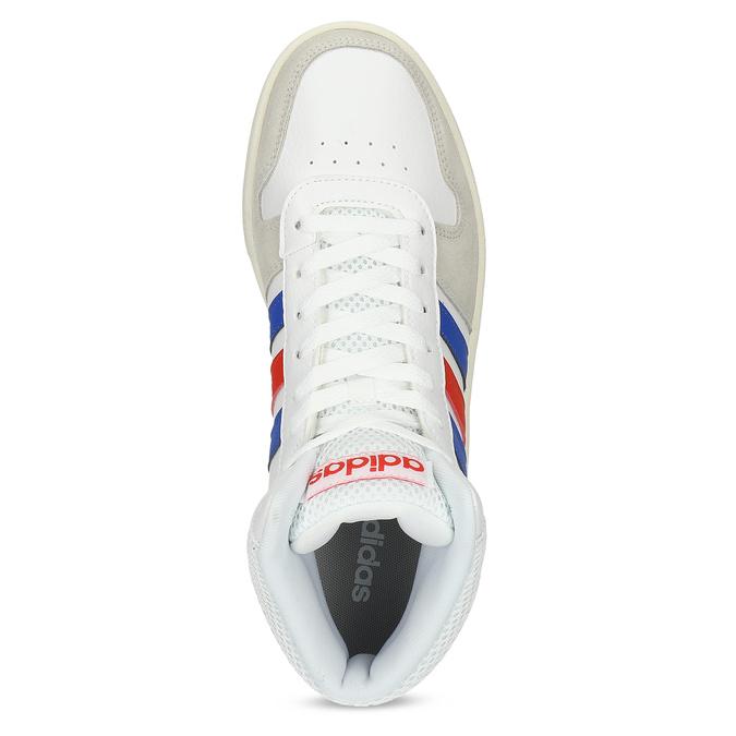 Pánské bílé kotníčkové tenisky adidas, bílá, 801-1327 - 17