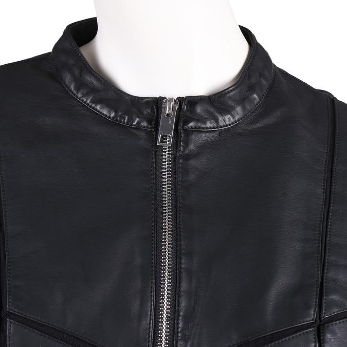 Dámská černá bunda s prošitím bata, černá, 971-6247 - 16