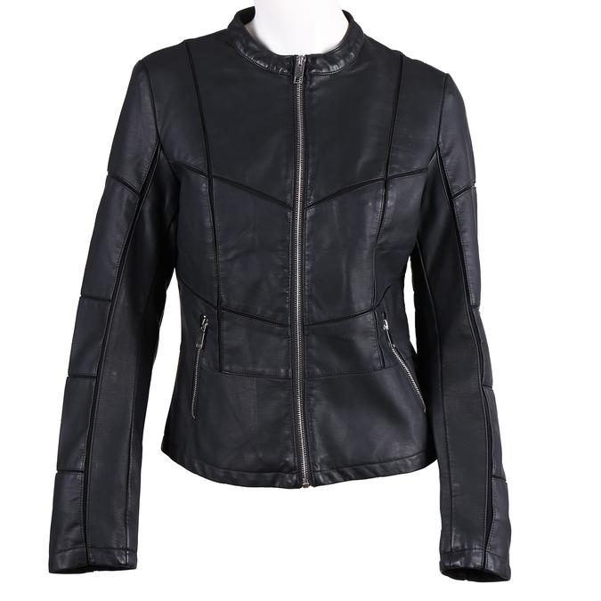 Dámská černá bunda s prošitím bata, černá, 971-6247 - 13