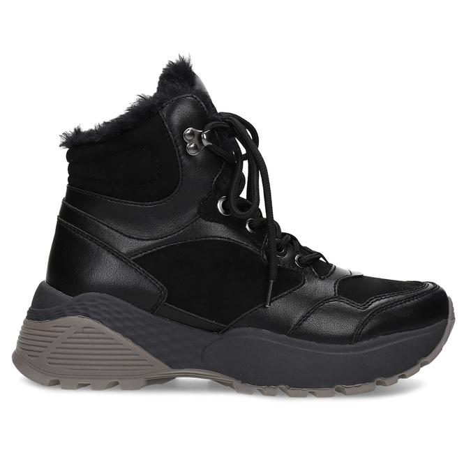 Černá dámská kotníčková zimní obuv bata, černá, 591-6624 - 19