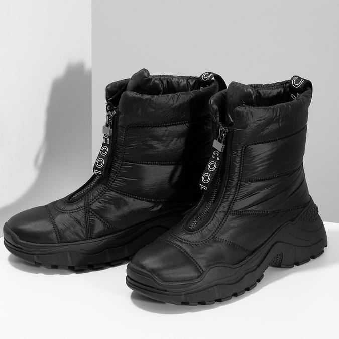 Černé dámské sněhule se zipem bata, černá, 591-6650 - 16