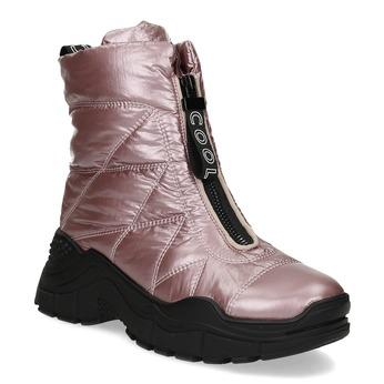 Metalicky růžové dámské sněhule bata, růžová, 591-5650 - 13