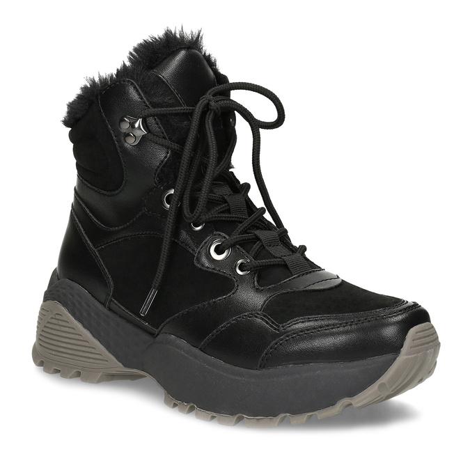 Černá dámská kotníčková zimní obuv bata, černá, 591-6624 - 13