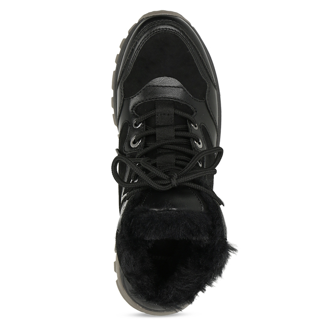 Černá dámská kotníčková zimní obuv bata, černá, 591-6624 - 17