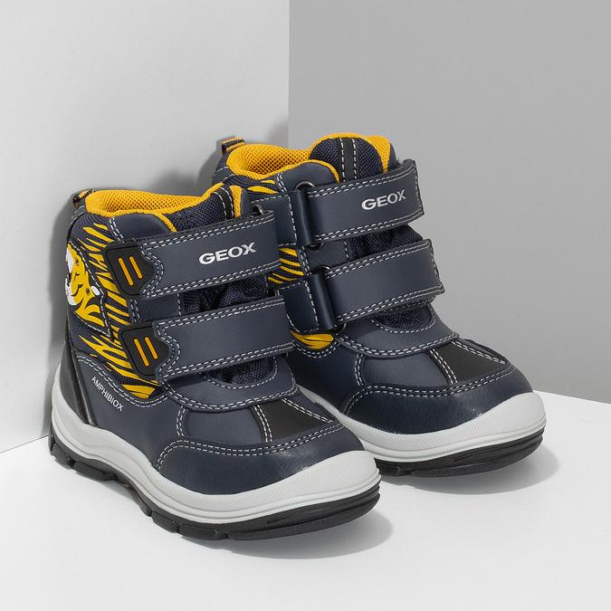 Dětská zimní obuv na suché zipy geox, modrá, 191-9135 - 26