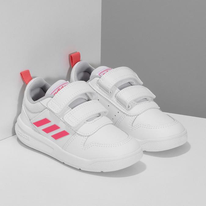 Bílé dětské tenisky s růžovými detaily adidas, bílá, 101-1291 - 26