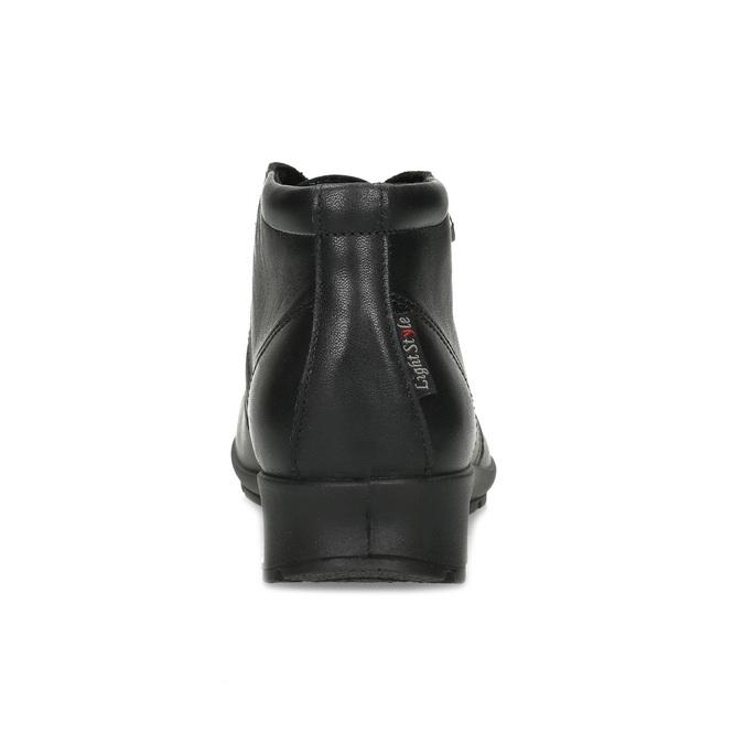 Dámská černá kožená kotníčková obuv comfit, černá, 594-6707 - 15