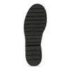 Kožené černé kozačky s kovovými cvoky bata, černá, 596-6606 - 18
