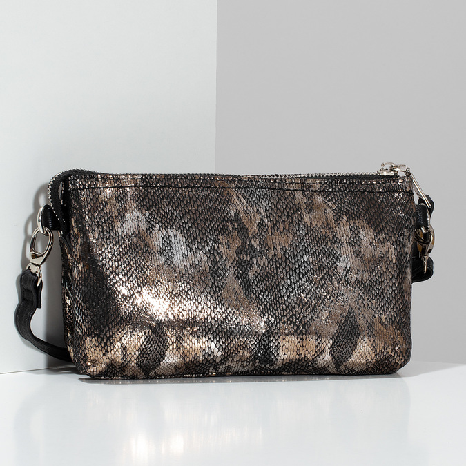 Dámská Crossbody kabelka s hadím vzorem gabor, stříbrná, 969-1103 - 17