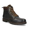 Pánská hnědá kožená kotníčková obuv bata, hnědá, 896-4748 - 13