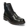 Pánská kožená kotníčková obuv bata, černá, 896-6765 - 13