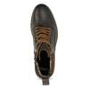 Pánská hnědá kožená kotníčková obuv bata, hnědá, 896-4748 - 17