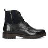 Pánská kožená kotníčková obuv bata, černá, 896-6765 - 19