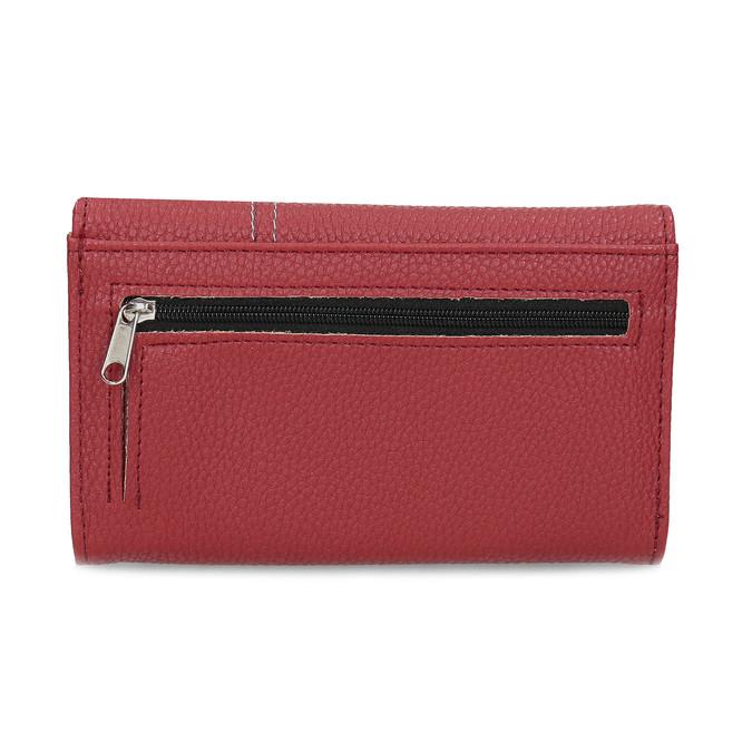 Červená dámská peněženka s prošitím bata, červená, 941-5620 - 16