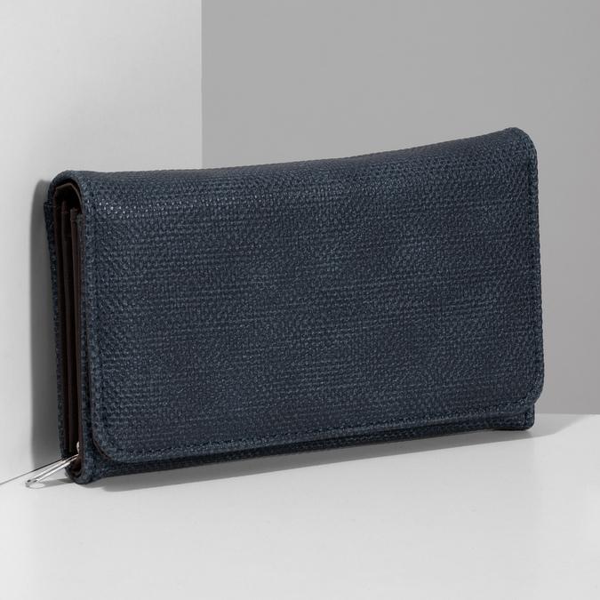 Modrá dámská peněženka bata, modrá, 941-9617 - 17