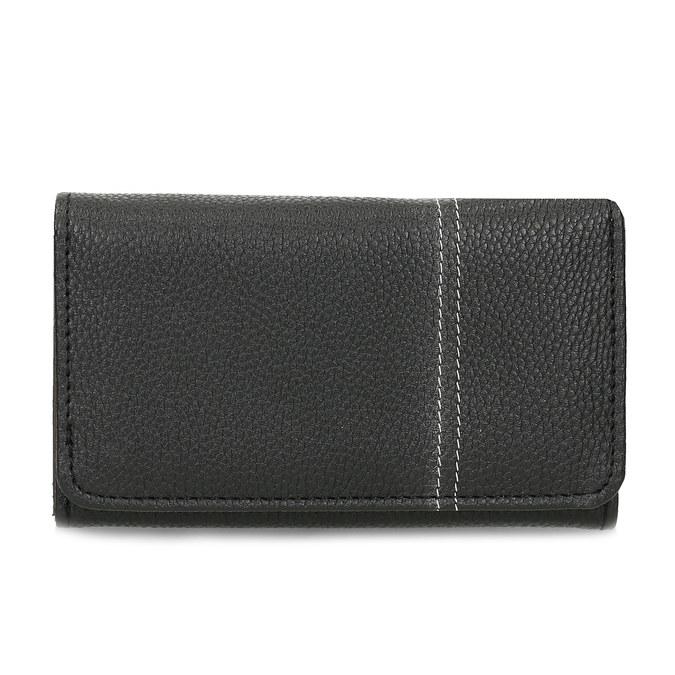 Černá dámská peněženka s prošitím bata, černá, 941-6620 - 26