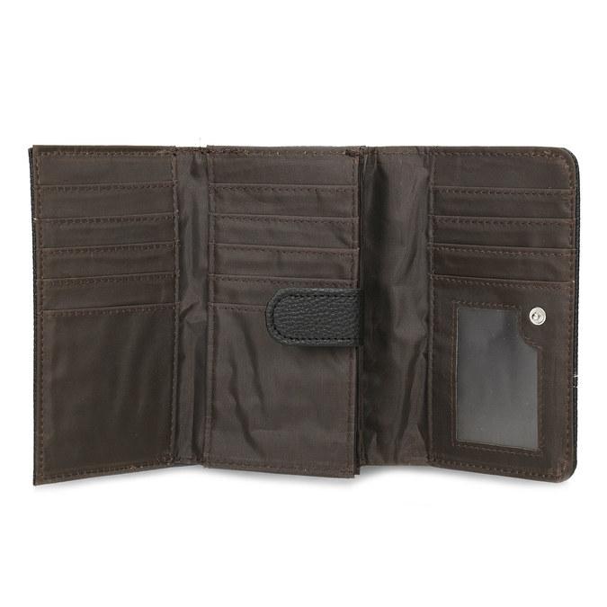 Černá dámská peněženka s prošitím bata, černá, 941-6620 - 15