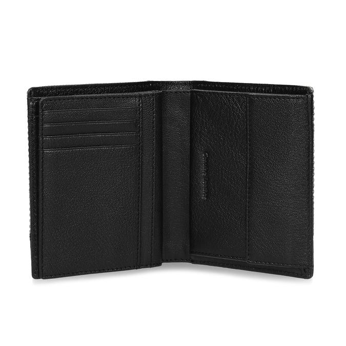 Černá kožená peněženka s šedou částí bata, černá, 944-2622 - 15