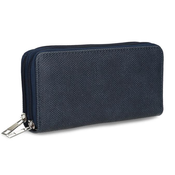 Dámská modrá peněženka na zip bata, modrá, 941-9618 - 13