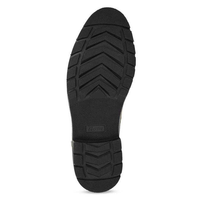 Hnědá pánská kožená kotníčková obuv bata, hnědá, 896-3764 - 18