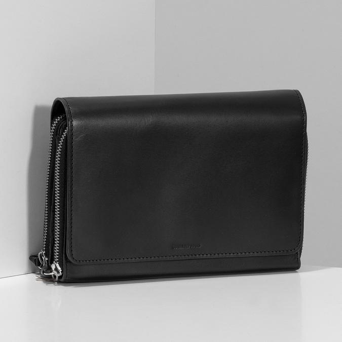Černá kožená dámská Crossbody kabelka royal-republiq, černá, 964-6346 - 17