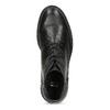 Pánská černá kožená kotníčková obuv bata, černá, 894-6705 - 17