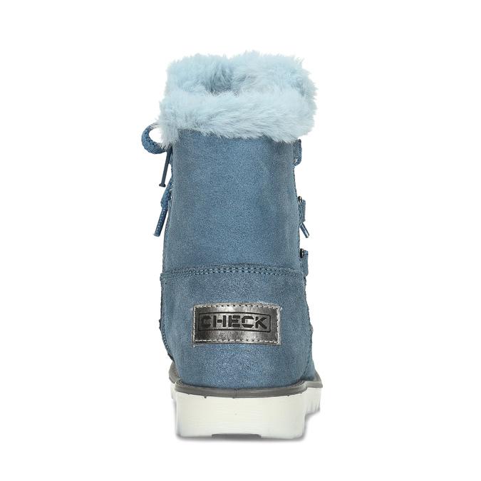 Modré dětské kožené sněhule se zateplením mini-b, modrá, 493-9622 - 15