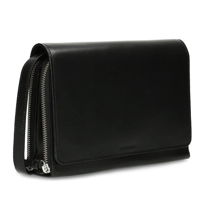 Černá kožená dámská Crossbody kabelka royal-republiq, černá, 964-6346 - 13