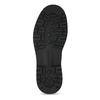 Černá kožená kotníčková obuv s prošitím weinbrenner, černá, 896-6693 - 18