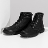 Černá kožená kotníčková obuv s prošitím weinbrenner, černá, 896-6693 - 16