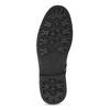 Kotníčková pánská kožená obuv bata, černá, 896-6768 - 18