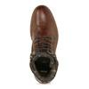 Pánská kožená kotníčková obuv bata, hnědá, 896-4745 - 17