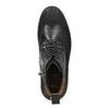 Kotníčková pánská kožená obuv bata, černá, 896-6768 - 17