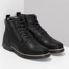 Černá pánská kožená kotníčková obuv bata, černá, 896-6601 - 26