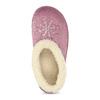 Fialová dámská domácí obuv se zateplením bata, fialová, 579-9641 - 17