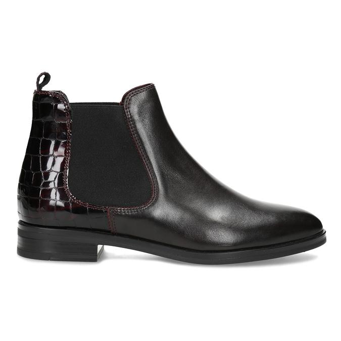 Vínová dámská kožená Chelsea obuv bata, červená, 594-5603 - 19