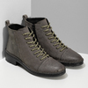 Šedá dámská kožená kotníčková obuv bata, šedá, 596-2604 - 26