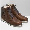 Hnědá pánská kožená zimní obuv bata, hnědá, 896-3746 - 26