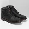 Černá pánská kožená kotníčková obuv bata, černá, 896-6747 - 26