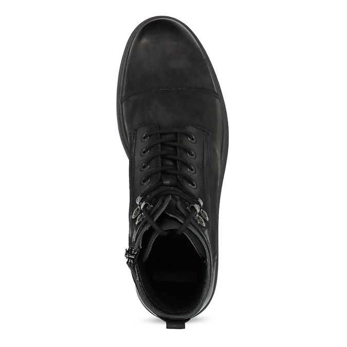 Pánská černá kožená kotníčková obuv bata, černá, 896-6752 - 17