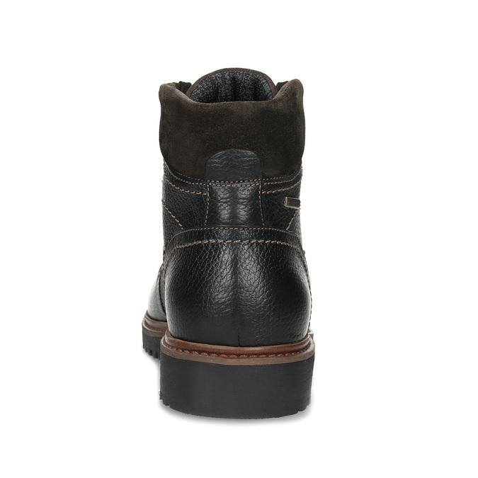 Kotníčková pánská kožená zimní obuv bata, černá, 894-6760 - 15