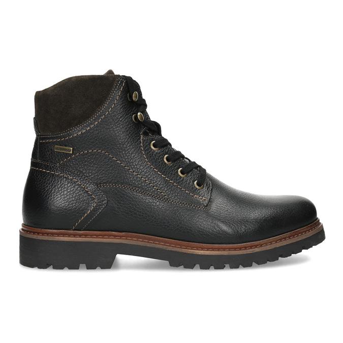 Kotníčková pánská kožená zimní obuv bata, černá, 894-6760 - 19