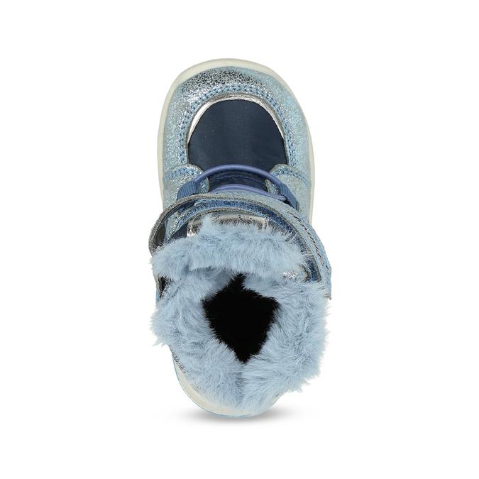 Modrá dětská zimní obuv se stříbrnými detaily primigi, modrá, 199-9614 - 17