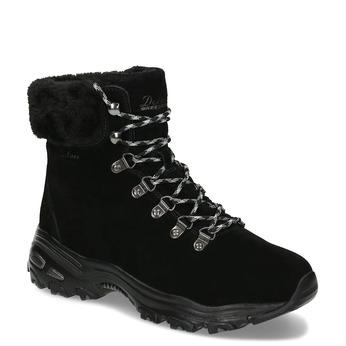 Černá dámská zimní obuv z broušené kůže skechers, černá, 593-6110 - 13