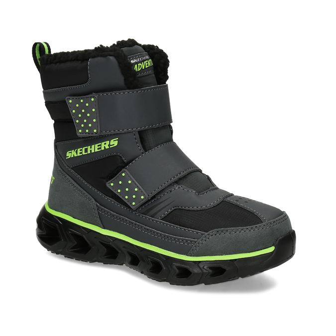Černá dětská kotníčková zimní obuv skechers, černá, 399-6112 - 13