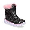 Černé dětské sněhule s růžovým kožíškem skechers, černá, 399-6111 - 13