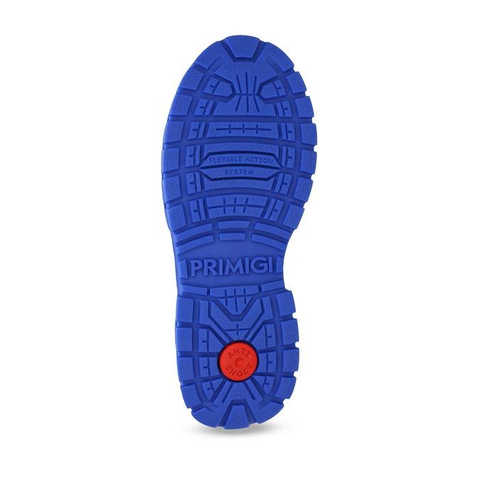 Šedá dětská zimní obuv s modrými detaily primigi, šedá, 293-2606 - 18