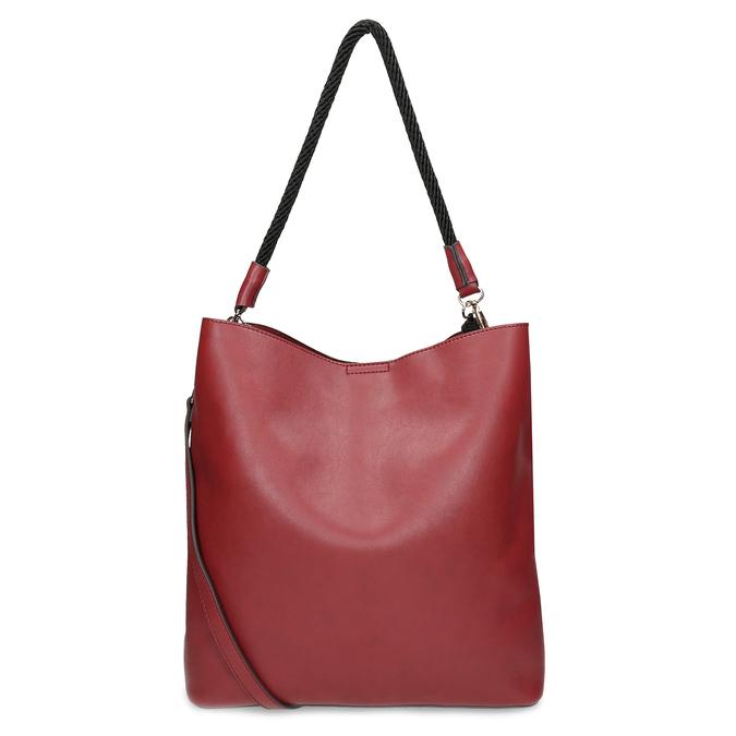 Červená dámská kabelka s popruhem bata, červená, 961-5816 - 16